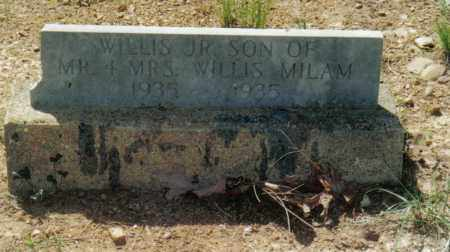 MILAM, JR., WILLIS - Randolph County, Arkansas | WILLIS MILAM, JR. - Arkansas Gravestone Photos