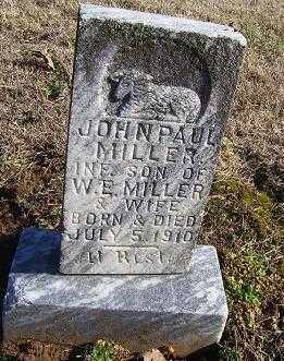MILLER, JOHN PAUL - Randolph County, Arkansas | JOHN PAUL MILLER - Arkansas Gravestone Photos