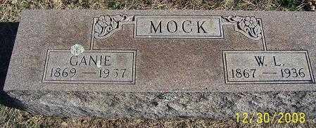 MOCK, GANIE - Randolph County, Arkansas | GANIE MOCK - Arkansas Gravestone Photos