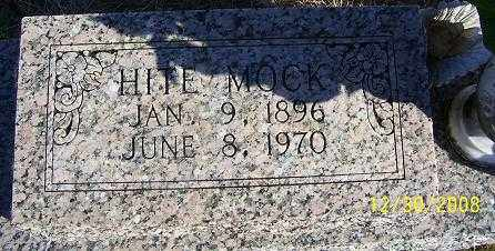 MOCK, HITE - Randolph County, Arkansas | HITE MOCK - Arkansas Gravestone Photos