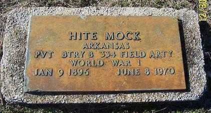 MOCK (VETERAN WWI), HITE - Randolph County, Arkansas | HITE MOCK (VETERAN WWI) - Arkansas Gravestone Photos