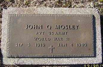 MOSLEY (VETERAN WWII), JOHN Q - Randolph County, Arkansas | JOHN Q MOSLEY (VETERAN WWII) - Arkansas Gravestone Photos