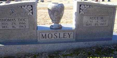 MOSLEY, ALICE M. - Randolph County, Arkansas | ALICE M. MOSLEY - Arkansas Gravestone Photos