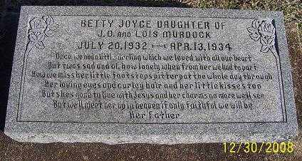 MURDOCK, BETTY JOYCE - Randolph County, Arkansas | BETTY JOYCE MURDOCK - Arkansas Gravestone Photos