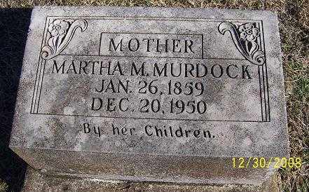 MURDOCK, MARTHA M. - Randolph County, Arkansas | MARTHA M. MURDOCK - Arkansas Gravestone Photos