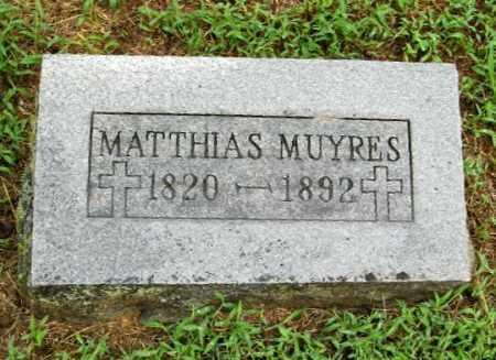 MUYRES, MATTHIAS - Randolph County, Arkansas | MATTHIAS MUYRES - Arkansas Gravestone Photos