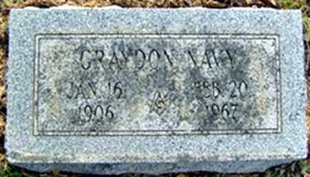 NAVY, GRAYDON - Randolph County, Arkansas | GRAYDON NAVY - Arkansas Gravestone Photos