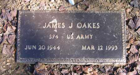 OAKES (VETERAN), JAMES J - Randolph County, Arkansas | JAMES J OAKES (VETERAN) - Arkansas Gravestone Photos