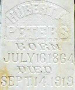 PETERS, HUBERT A.  CLOSE UP - Randolph County, Arkansas | HUBERT A.  CLOSE UP PETERS - Arkansas Gravestone Photos