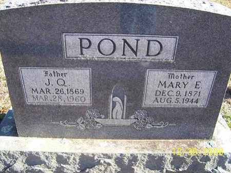 POND, MARY E. - Randolph County, Arkansas | MARY E. POND - Arkansas Gravestone Photos