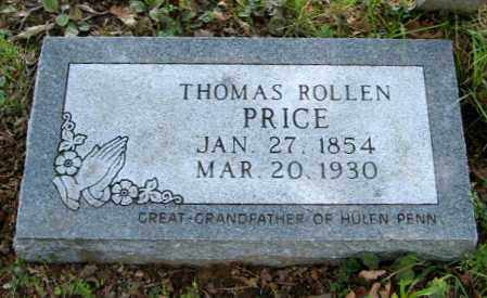 PRICE, THOMAS ROLLEN - Randolph County, Arkansas | THOMAS ROLLEN PRICE - Arkansas Gravestone Photos