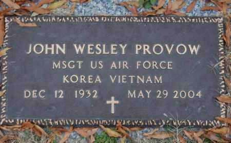 PROVOW (VETERAN 2 WARS), JOHN WESLEY - Randolph County, Arkansas | JOHN WESLEY PROVOW (VETERAN 2 WARS) - Arkansas Gravestone Photos