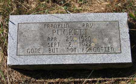 PUCKETT, FRANKLIN RAY - Randolph County, Arkansas | FRANKLIN RAY PUCKETT - Arkansas Gravestone Photos