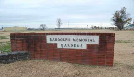 *RANDOLPH MEMORIAL GARDENS, SIGN & DIRECTIONS - Randolph County, Arkansas | SIGN & DIRECTIONS *RANDOLPH MEMORIAL GARDENS - Arkansas Gravestone Photos