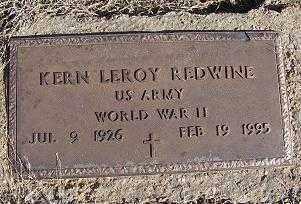 REDWINE (VETERAN WWII), KERN LEROY - Randolph County, Arkansas | KERN LEROY REDWINE (VETERAN WWII) - Arkansas Gravestone Photos