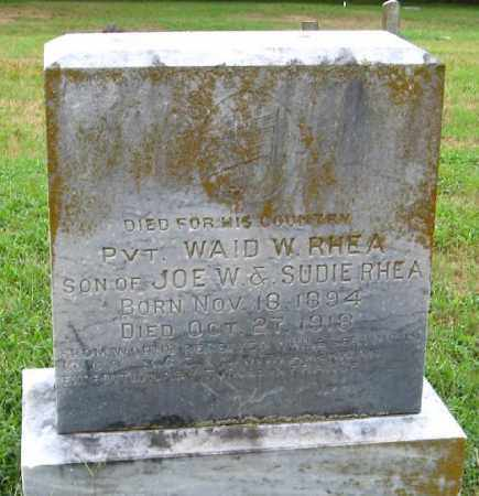 RHEA  (VETERAN), WAID W. - Randolph County, Arkansas | WAID W. RHEA  (VETERAN) - Arkansas Gravestone Photos
