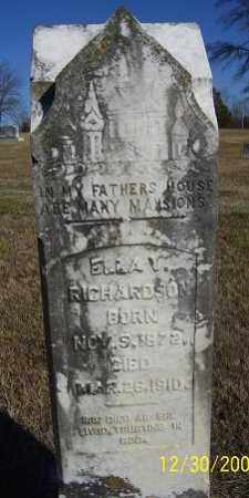 RICHARDSON, ELLA - Randolph County, Arkansas | ELLA RICHARDSON - Arkansas Gravestone Photos
