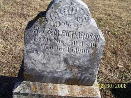 RICHARDSON, GLADYS - Randolph County, Arkansas | GLADYS RICHARDSON - Arkansas Gravestone Photos