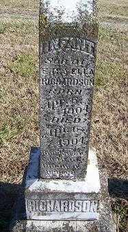 RICHARDSON, INFANT SON - Randolph County, Arkansas | INFANT SON RICHARDSON - Arkansas Gravestone Photos