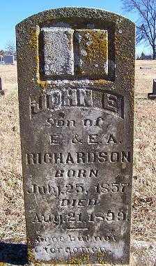 RICHARDSON, JOHN E. - Randolph County, Arkansas | JOHN E. RICHARDSON - Arkansas Gravestone Photos