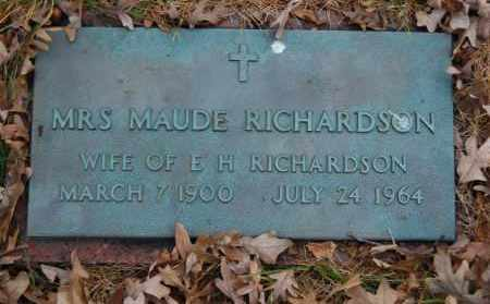 RICHARDSON, MAUDE - Randolph County, Arkansas | MAUDE RICHARDSON - Arkansas Gravestone Photos