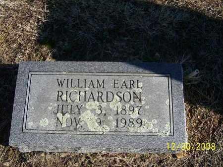 RICHARDSON, WILLIAM EARL - Randolph County, Arkansas   WILLIAM EARL RICHARDSON - Arkansas Gravestone Photos