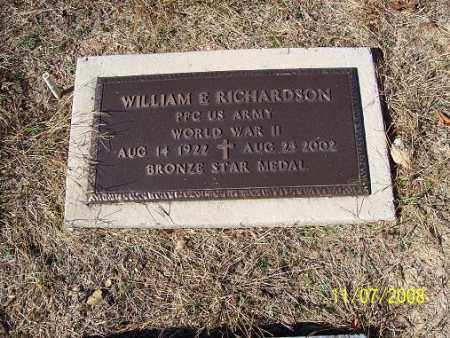RICHARDSON (VETERAN WWII), WILLIAM E - Randolph County, Arkansas | WILLIAM E RICHARDSON (VETERAN WWII) - Arkansas Gravestone Photos