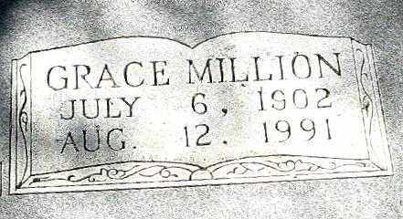 MILLION RIGGS, GRACE (CLOSEUP) - Randolph County, Arkansas | GRACE (CLOSEUP) MILLION RIGGS - Arkansas Gravestone Photos