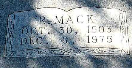RIGGS, R. MACK (CLOSE UP) - Randolph County, Arkansas | R. MACK (CLOSE UP) RIGGS - Arkansas Gravestone Photos