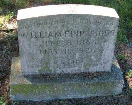 RIGGS, WILLIAM FINIS - Randolph County, Arkansas | WILLIAM FINIS RIGGS - Arkansas Gravestone Photos