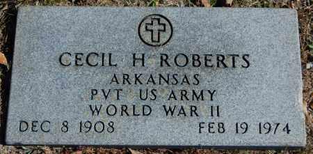 ROBERTS (VETERAN WWII), CECIL H - Randolph County, Arkansas | CECIL H ROBERTS (VETERAN WWII) - Arkansas Gravestone Photos