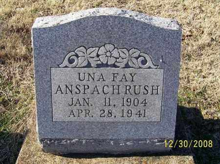 RUSH, UNA FAY - Randolph County, Arkansas | UNA FAY RUSH - Arkansas Gravestone Photos