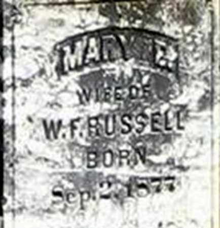 RUSSELL, MARY E - Randolph County, Arkansas | MARY E RUSSELL - Arkansas Gravestone Photos
