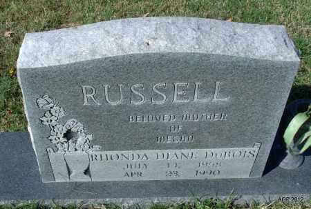 RUSSELL, RHONDA DIANE - Randolph County, Arkansas   RHONDA DIANE RUSSELL - Arkansas Gravestone Photos