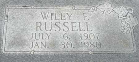 RUSSELL, WILEY FERGUSON  CLOSE UP - Randolph County, Arkansas | WILEY FERGUSON  CLOSE UP RUSSELL - Arkansas Gravestone Photos