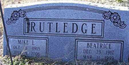 RUTLEDGE, BEATRICE - Randolph County, Arkansas | BEATRICE RUTLEDGE - Arkansas Gravestone Photos