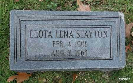 WALLACE STAYTON, LEOTA LENA - Randolph County, Arkansas | LEOTA LENA WALLACE STAYTON - Arkansas Gravestone Photos
