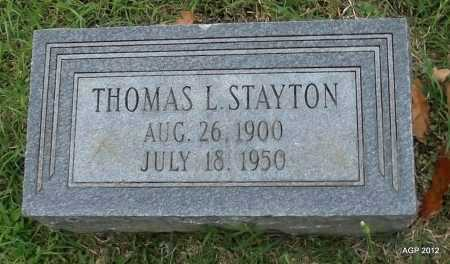 STAYTON, THOMAS L - Randolph County, Arkansas | THOMAS L STAYTON - Arkansas Gravestone Photos
