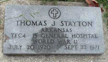 STAYTON (VETERAN WWII), THOMAS J - Randolph County, Arkansas | THOMAS J STAYTON (VETERAN WWII) - Arkansas Gravestone Photos