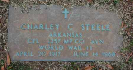 STEELE (VETERAN WWII), CHARLEY C - Randolph County, Arkansas | CHARLEY C STEELE (VETERAN WWII) - Arkansas Gravestone Photos