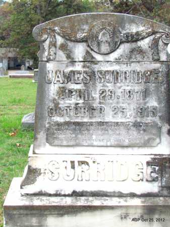 SURRIDGE, JAMES - Randolph County, Arkansas | JAMES SURRIDGE - Arkansas Gravestone Photos