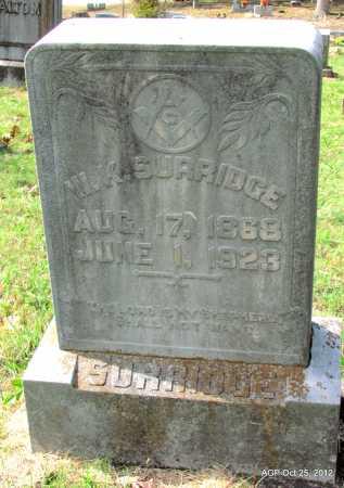 SURRIDGE, WILLIAM K - Randolph County, Arkansas | WILLIAM K SURRIDGE - Arkansas Gravestone Photos