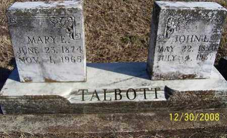 TALBOTT, MARY E. - Randolph County, Arkansas | MARY E. TALBOTT - Arkansas Gravestone Photos