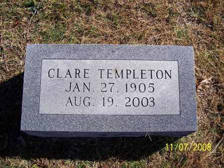 TEMPLETON, CLARE - Randolph County, Arkansas | CLARE TEMPLETON - Arkansas Gravestone Photos