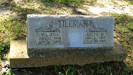TILLMAN, LOTTIE M. - Randolph County, Arkansas | LOTTIE M. TILLMAN - Arkansas Gravestone Photos
