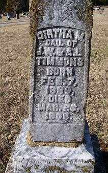 TIMMONS, GIRTHA M. - Randolph County, Arkansas | GIRTHA M. TIMMONS - Arkansas Gravestone Photos
