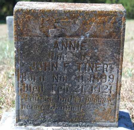 TINER, ANNIE - Randolph County, Arkansas | ANNIE TINER - Arkansas Gravestone Photos