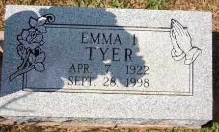 TYER, EMMA I. - Randolph County, Arkansas | EMMA I. TYER - Arkansas Gravestone Photos