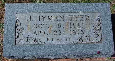 TYER, J. HYMEN - Randolph County, Arkansas | J. HYMEN TYER - Arkansas Gravestone Photos