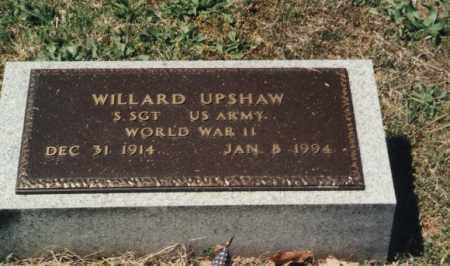 UPSHAW (VETERAN WWII), WILLARD - Randolph County, Arkansas | WILLARD UPSHAW (VETERAN WWII) - Arkansas Gravestone Photos